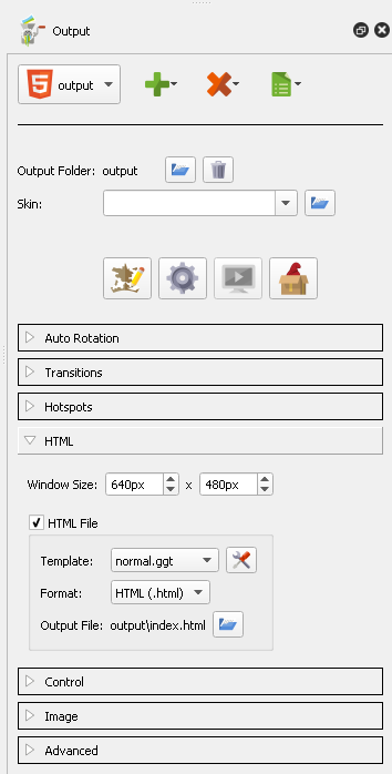 Slect the little tools/settings icon tot he right of the HTML Template selector